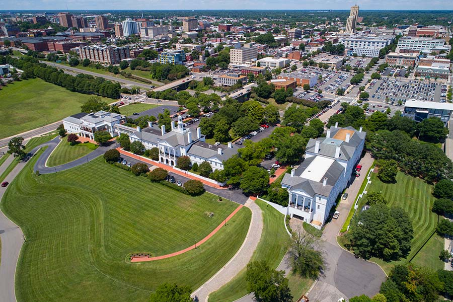 Contact - Aerial View Of Downtown Richmond Virginia